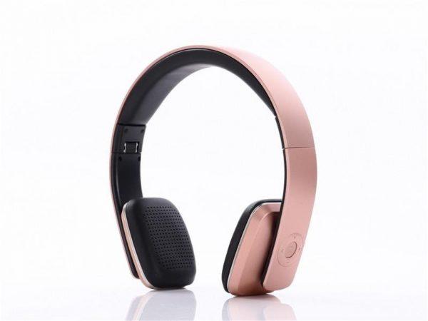 Pink headphones